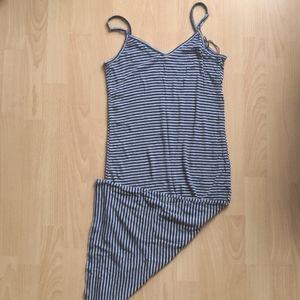Garage Striped Jersey Midi Dress